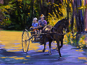 Horse And Cart Metal Prints - Driver Training Metal Print by Ken Fiery