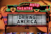 Driving America Douglas Auto Theatre Print by Nicholas  Grunas