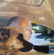 Buddies Paintings - Driving Buddies by Julia Ranson