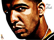 Singer Mixed Media Prints - Drizzy Drake Print by The DigArtisT