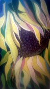 Gladiola Paintings - Drooping Sunflower by Crystal Dearth-Lorton