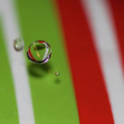 Water Drop Art - Drop Me Off Here by Rebecca Cozart