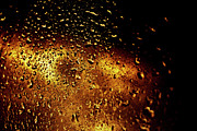Golden Brown Prints - Droplets I Print by Grebo Gray