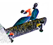 Skateboard Posters - Dropping In Poster by Meirion Matthias
