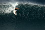 Wave Art Photos - Dropping in on Monster Pipe by Brad Scott