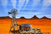 Abstract Windmill. Paintings - Drought in Our Land 4417 by Jessie Meier