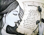 Love Poem Drawings - Drowned Love by Jennifer  Foslien-Wheeler