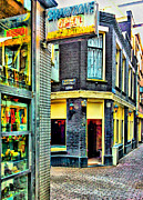 Old Town Digital Art Prints - Drug and Sex Area in Amsterdam Print by Yury Malkov