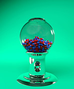 Featured Art - Drug Pills In A Sweet Dispenser by Christian Darkin