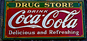 Coco Framed Prints - Drug Store Coca Cola sign Framed Print by Garry Gay