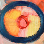 Abstract Drum Paintings - Drum by Krisztina Lehoczky