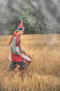Militaria Prints - Drummer Boy Eastern Indian Frontier Print by Randy Steele