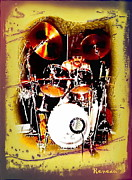 Gigs Art - Drummer Extraordinaire by Sadie Reneau