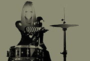 Drummer Metal Prints - Drummer Metal Print by Irina  March