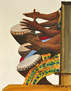Hallmark Art - Drummers by Calvert Johnny