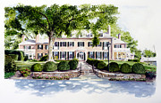 Watercolor Paintings - Drumore Estate  by Dana Bellis