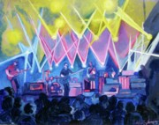 Concerts Painting Framed Prints - Drus Night with Um Framed Print by Patricia Arroyo