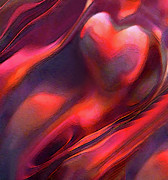 Isolated Digital Art Prints - Dry Canyons Of The Heart Print by Terril Heilman