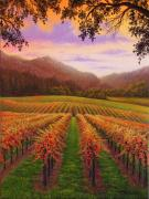 California Vineyard Paintings - Dry Creek Road by Patrick ORourke