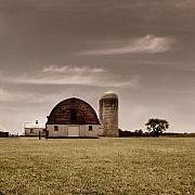 Old Barn Prints - Dry Earth Crumbles Between My Fingers and I Look to the Sky for Rain Print by Dana DiPasquale