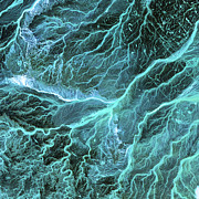 Dry River Beds, Satellite Image Print by Nasa