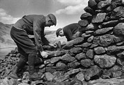 Surrounding Wall Prints - Dry Stone Wall Print by Kurt Hutton