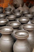 Artisan Made Posters - Drying Pots Bhakatpur Poster by Serena Bowles