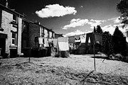 Clothes Clothing Art - Drying Washing On A Washing Line At The Rear Of Tenement Buildings In Kilmarnock Scotland by Joe Fox