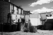 Clothes Clothing Art - Drying Washing On A Washing Line At The Rear Of Tenement Buildings In Kilmarnock Scotland Uk United  by Joe Fox