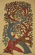 Gond Tribal Art Painting Originals - Ds 252 by Dilip Shyam