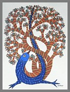 Gond Paintings - Ds 311 by Dilip Shyam