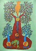 Gond Art Paintings - Dsu 48 by Dhavat Singh Uikey