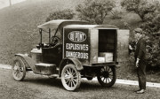 Wilkes Barre Posters - Du Pont Co. Explosives Truck Pennsylvania Coal Fields 1916 Poster by Arthur Miller