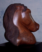 Equine Sculpture Sculptures - Dual Equine by Lonnie Tapia