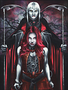 Dual Vampires Print by Rick Ritchie