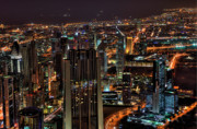 Dubai Photos - Dubai at Night by Shawn Everhart