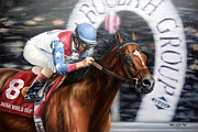 Jockey Paintings - Dubai World Cup Classic by Thomas Allen Pauly