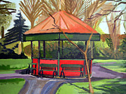 Bandstand Paintings - Dublin Bandstand by Brian Junior Lambert