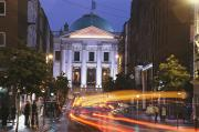 Governmental Prints - Dublin City Hall At Night Print by Richard Nowitz