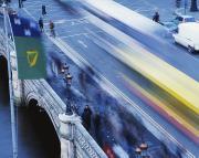 City Of Bridges Posters - Dublin, Ireland Traffic And Pedestrians Poster by The Irish Image Collection 