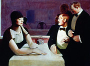 Genre Paintings - Dubois - Dining Out 1925 by Granger