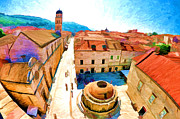 Panorama Digital Art Originals - Dubrovnik - Stradun by Darko Vrbica