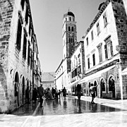 Featured Acrylic Prints - #dubrovnik #b&w #edit Acrylic Print by Alan Khalfin