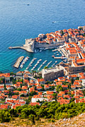 Dubrovnik From Above Print by Artur Bogacki