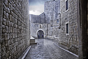 Dubrovnik Acrylic Prints - Dubrovnik In The Rain - Old City Acrylic Print by Madeline Ellis