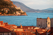 Red Roof Framed Prints - Dubrovnik Scenery Framed Print by Artur Bogacki