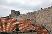 Red Roof Framed Prints - Dubrovnik View 4 Framed Print by Madeline Ellis