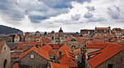 Red Roofs Framed Prints - Dubrovnik View 7 Framed Print by Madeline Ellis