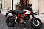 Poster Prints Prints - Ducati Motor Cross Print by John Rizzuto
