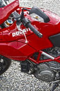 Diane Prints - Ducati Red Print by Diane E Berry